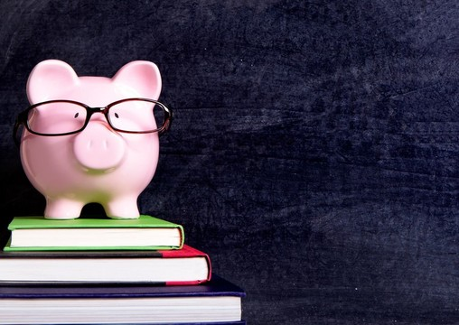 Piggy bank blackboard background   Edited
