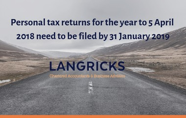 Personal tax returns for the year to 5 April 2018 need to be fil...